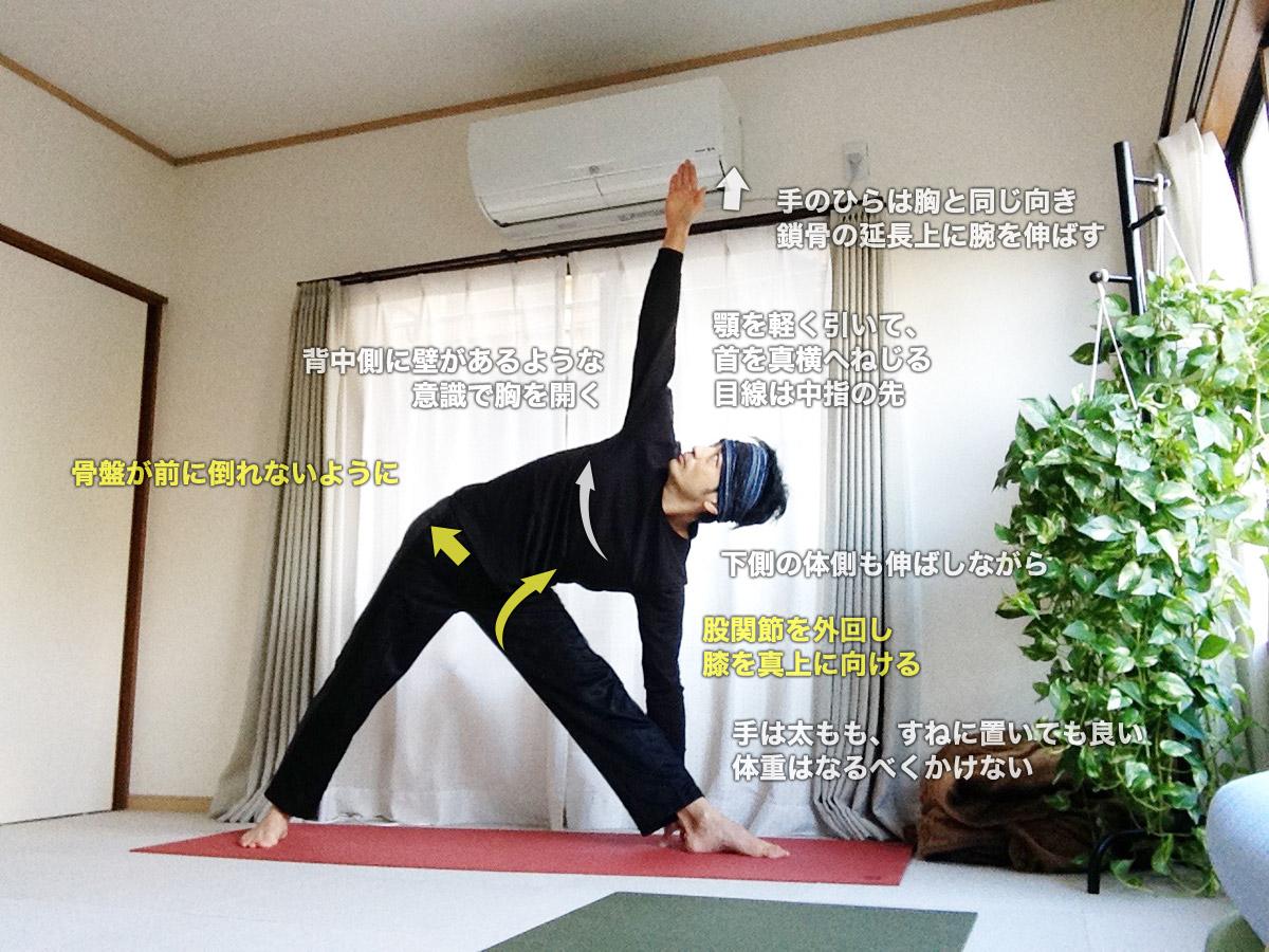 トリコーナーサナ(三角のポーズ・トリコーナアーサナ)〜骨盤調整・股関節を柔軟に〜