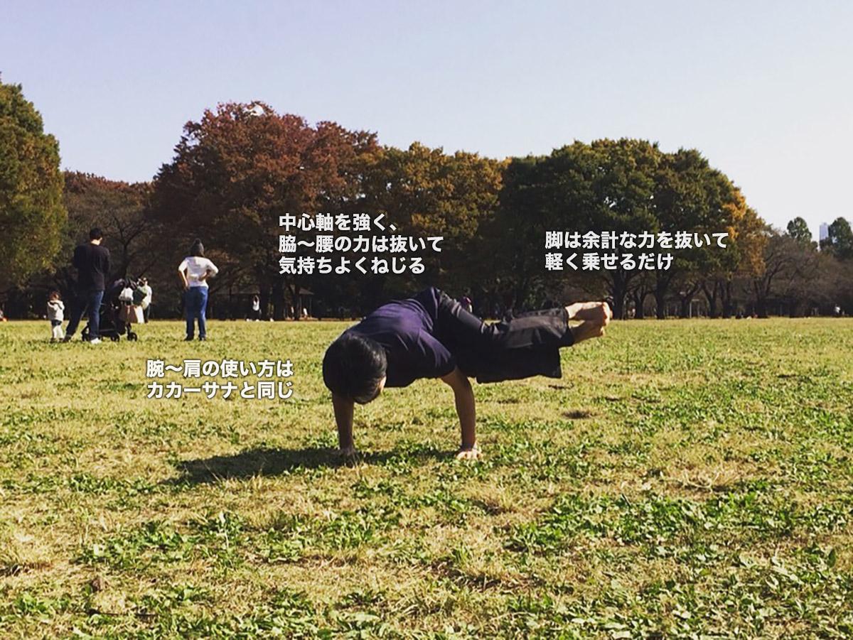 パールシュヴァカカーサナ(サイドクロウ・横向きのカラスのポーズ)〜バランス感覚を高め、内臓を活性化〜