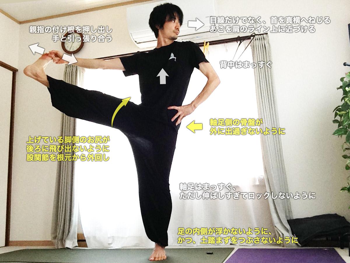 ウッティタハスタパダングシュターサナ(手で足の親指をつかむポーズ)〜バランス感覚と、太もも・股関節の柔軟性UP〜