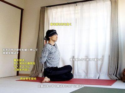 ゴームカーサナ(ゴムカーサナ・牛の顔のポーズ)〜股関節と肩周りを柔軟に〜