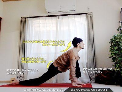 アシュワサンチャラナーサナ 〜股関節を前後に強くストレッチ、足首の歪みを整え、体幹強化〜