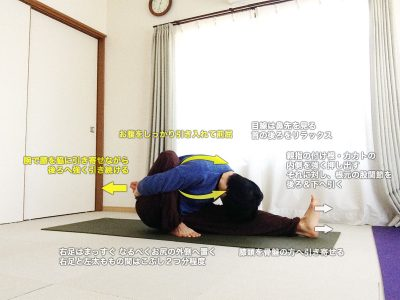 マリーチアーサナA(賢者マリーチのポーズA)〜腹筋を強く使った前屈・肩こり緩和・股関節柔軟性UP〜