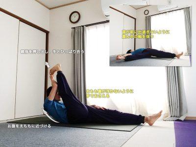 スプタパダングシュターサナ(仰向けで足の親指をつかむポーズ)〜床を使って姿勢を整え、ハムストリングスを効率的に伸ばす〜