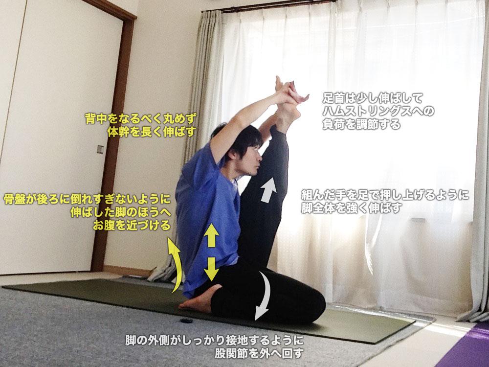 クラウンチャーサナ(鷺のポーズ)〜脚裏全体を強くストレッチ〜
