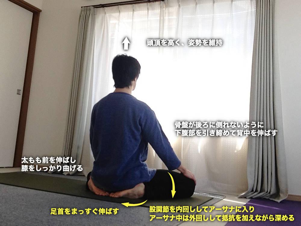 バドラーサナ(サッチャナンダ版・吉祥坐)〜骨盤周りのストレッチ・足首調整〜