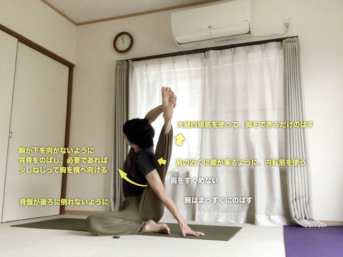 スーリヤヤントラーサナ(コンパスポーズ・日時計のポーズ)〜股関節の柔軟性UPと体幹の強化も〜